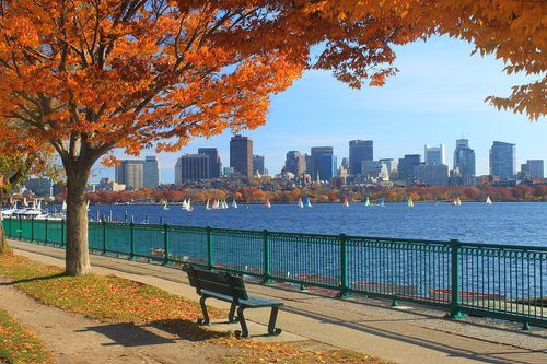 Boston-charles-river-in-autumn-john-burk